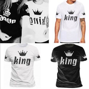 2018 couple King & Queen T-Shirt marching summer.